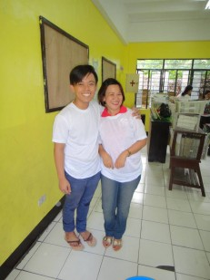 Teacher Carlo and Mrs. Dy Tiapco.