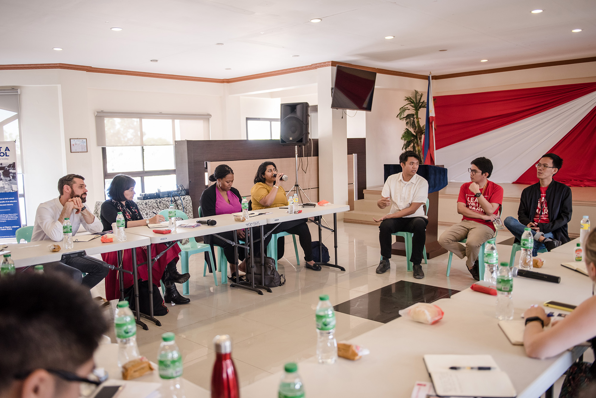Network Learning Trip participants in a plenary discussion with Teach for the Philippines Alumni in Laguna